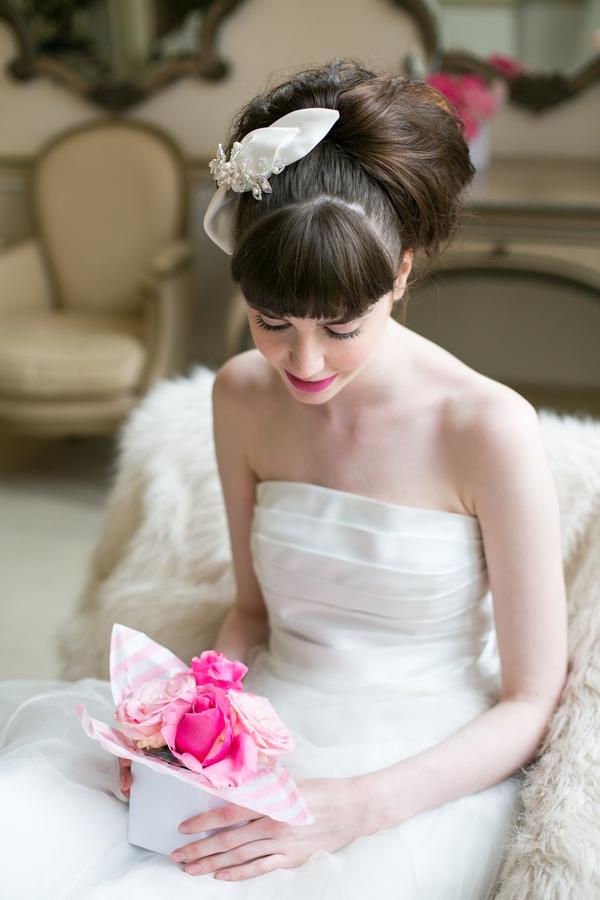Bride sitting down
