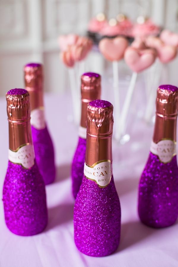Purple Champagne bottles