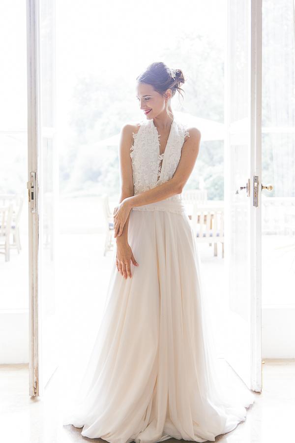 Bride wearing Charlotte Garratt wedding dress