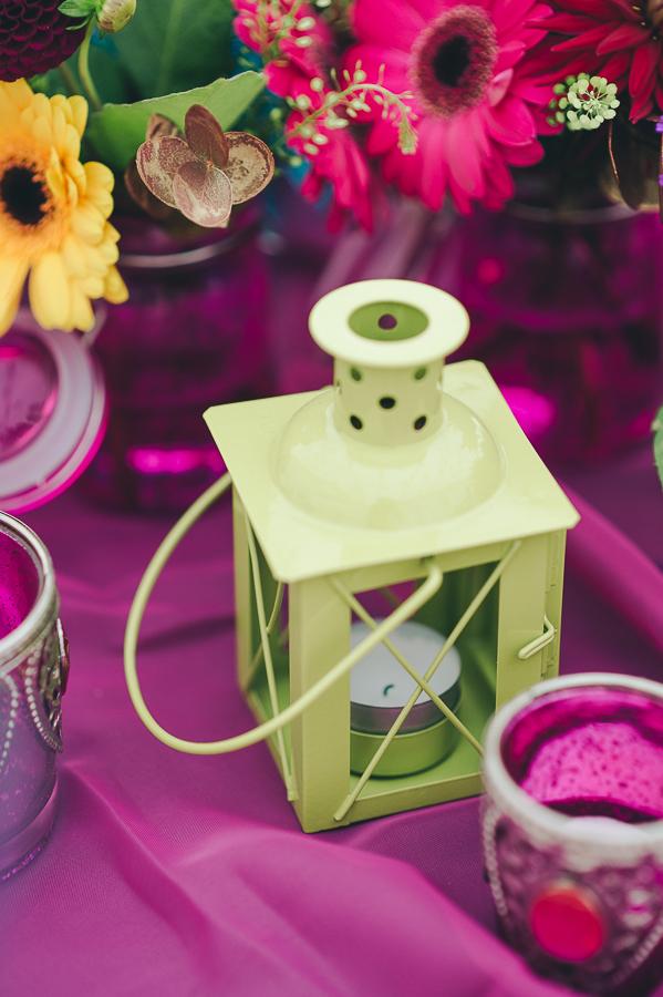 Green lantern tealight holder
