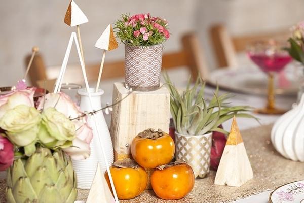 Small plant pot on wedding table