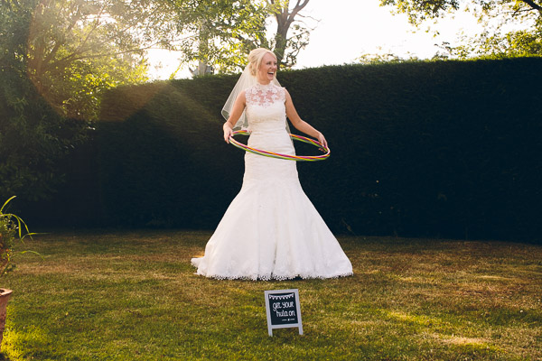 Bride with hula hoop