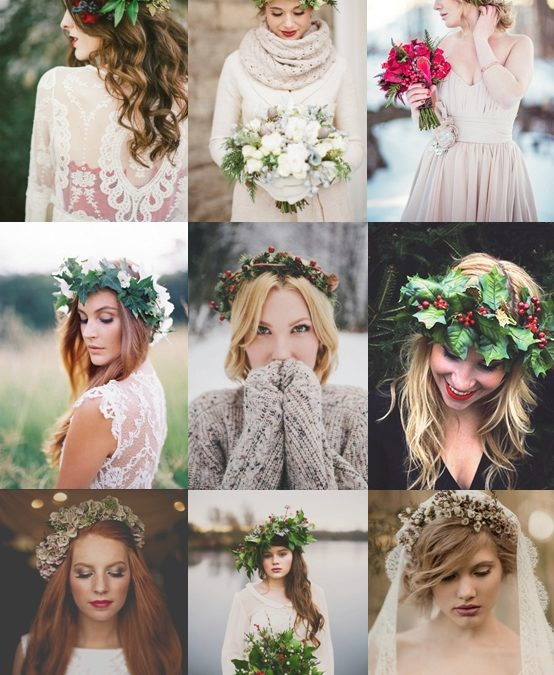 Floral Crowns for Winter Weddings