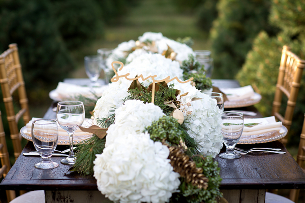 Large floral wedding table centrepiece