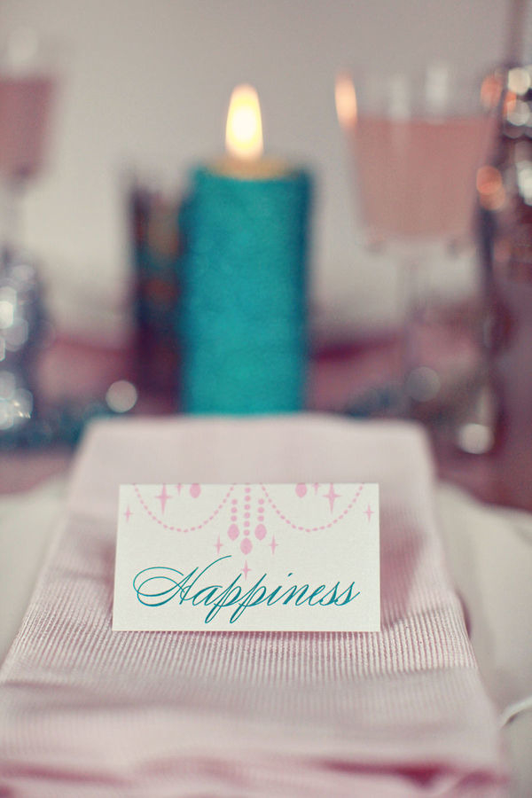 Happiness wedding place card