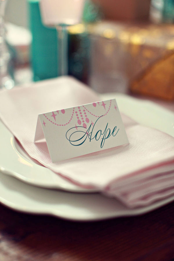 Hope wedding place card