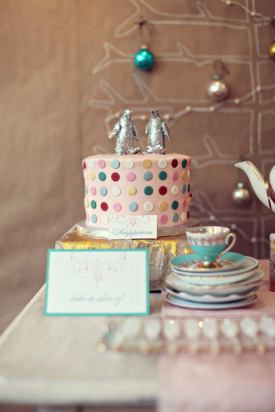 Spotty wedding cake