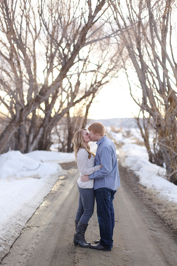 Couple kissing at Steamboat Springs, Colorado