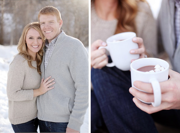 Couple drinking hot chocolate