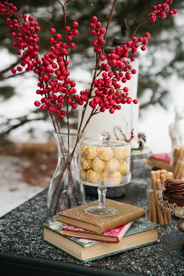 Ferrero Rocher and red berries
