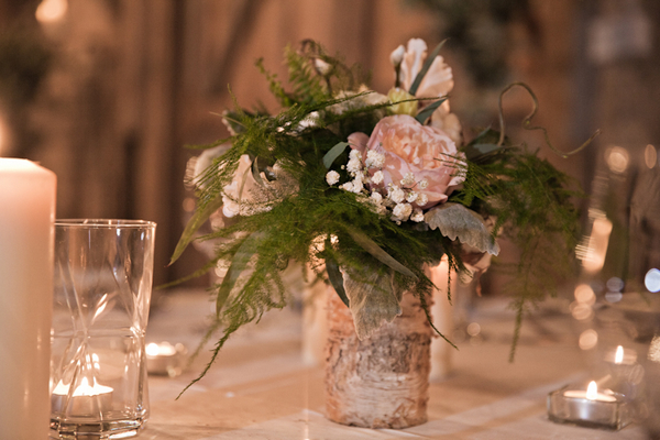 Flowers on wedding table