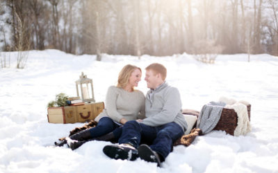 A Snowy Picnic Engagement Shoot