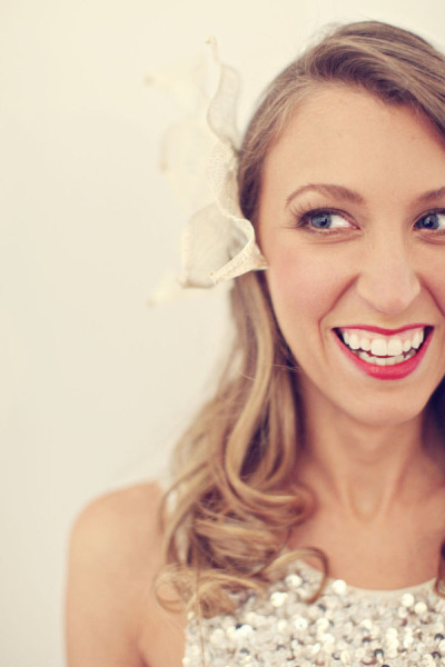 Bride with bow in hair