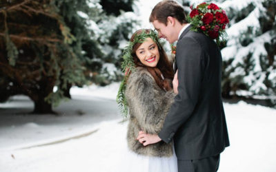 Christmas Woodland Wedding Styling