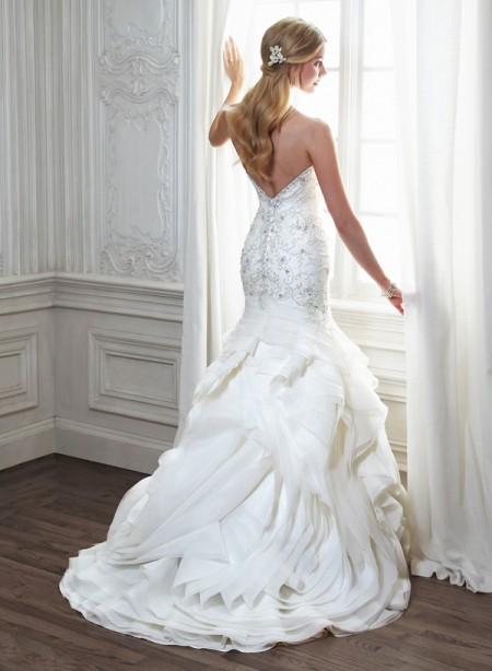 Back of Aurora Wedding Dress - Maggie Sottero Spring 2015 Bridal Collection