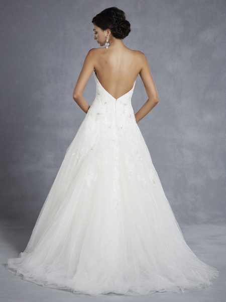 Back of BT15-12 Wedding Dress - Beautiful by Enzoani 2015 Bridal Collection