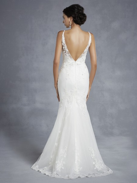 Back of BT15-15 Wedding Dress - Beautiful by Enzoani 2015 Bridal Collection