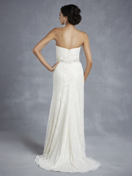 Back of BT15-20 Wedding Dress - Beautiful by Enzoani 2015 Bridal Collection