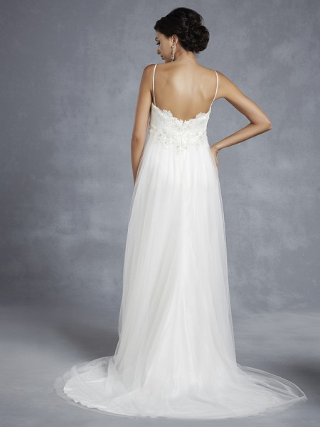 Back of BT15-21 Wedding Dress - Beautiful by Enzoani 2015 Bridal Collection