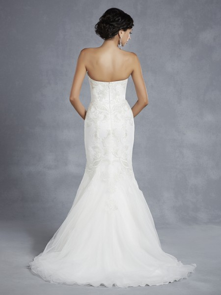 Back of BT15-23 Wedding Dress - Beautiful by Enzoani 2015 Bridal Collection