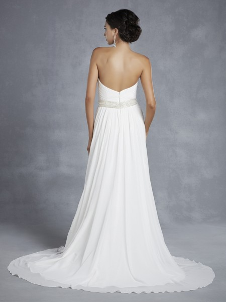 Back of BT15-24 Wedding Dress - Beautiful by Enzoani 2015 Bridal Collection