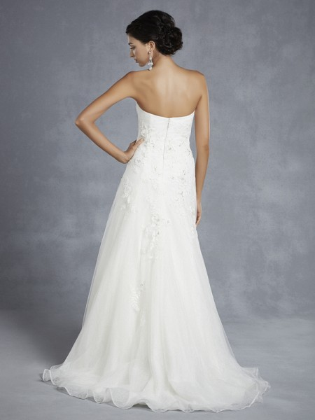 Back of BT15-25 Wedding Dress - Beautiful by Enzoani 2015 Bridal Collection