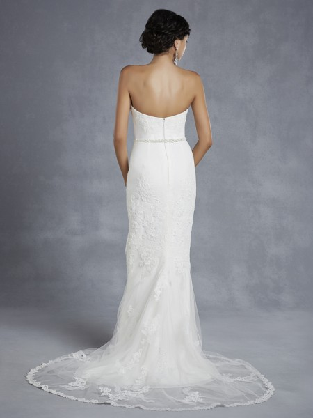 Back of BT15-30 Wedding Dress - Beautiful by Enzoani 2015 Bridal Collection