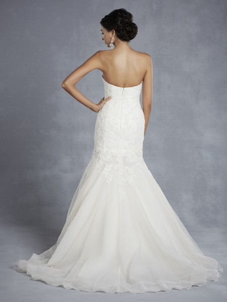 Back of BT15-6 Wedding Dress - Beautiful by Enzoani 2015 Bridal Collection