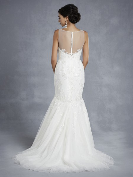 Back of BT15-8 Wedding Dress - Beautiful by Enzoani 2015 Bridal Collection
