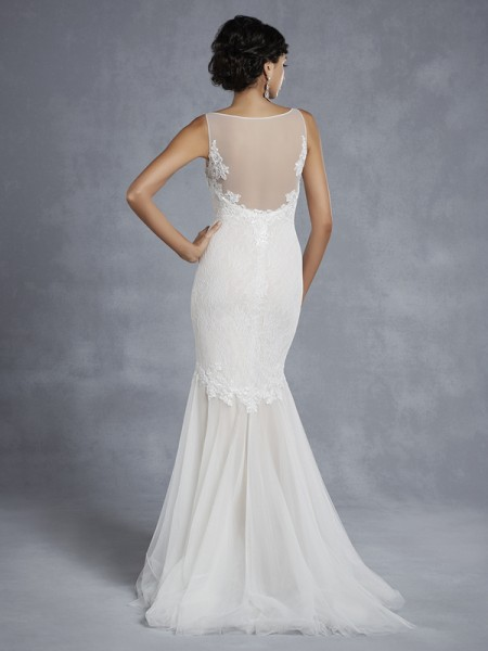 Back of BT15-9 Wedding Dress - Beautiful by Enzoani 2015 Bridal Collection
