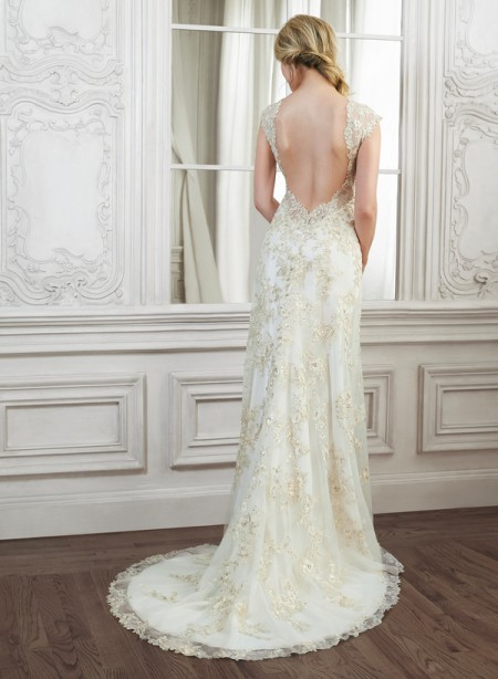 Back of Camelia Wedding Dress - Maggie Sottero Spring 2015 Bridal Collection