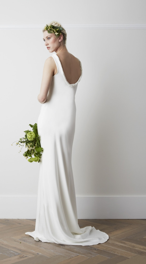 Back of Cassell Wedding Dress - Charlie Brear 2015 Bridal Collection