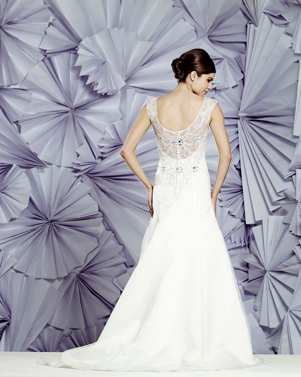 Back of Catalina Wedding Dress - Heritage Balbier-Wyatt 2015 Bridal Collection
