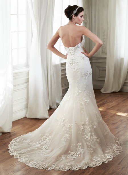 Back of Chante Wedding Dress - Maggie Sottero Spring 2015 Bridal Collection