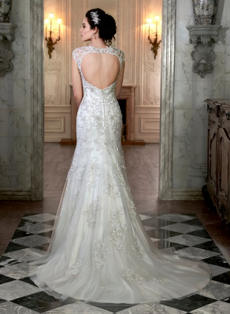 Back of Cheryl Wedding Dress - Maggie Sottero Spring 2015 Bridal Collection