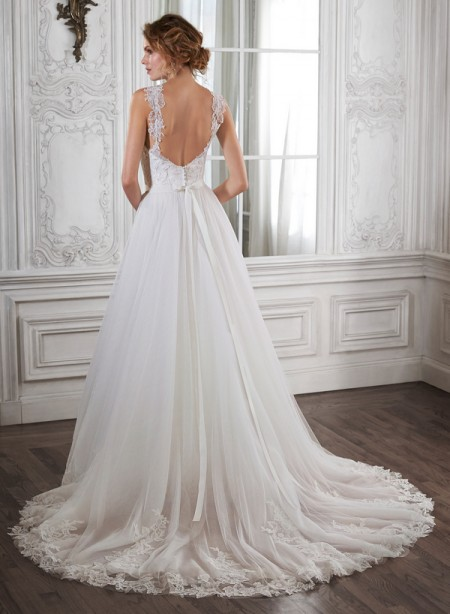 Back of Crystal Wedding Dress - Maggie Sottero Spring 2015 Bridal Collection