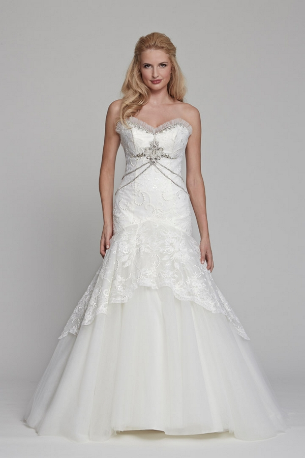 Dahlia Wedding Dress - Angel Rivera Couture Spring Blossom 2015 Bridal Collection