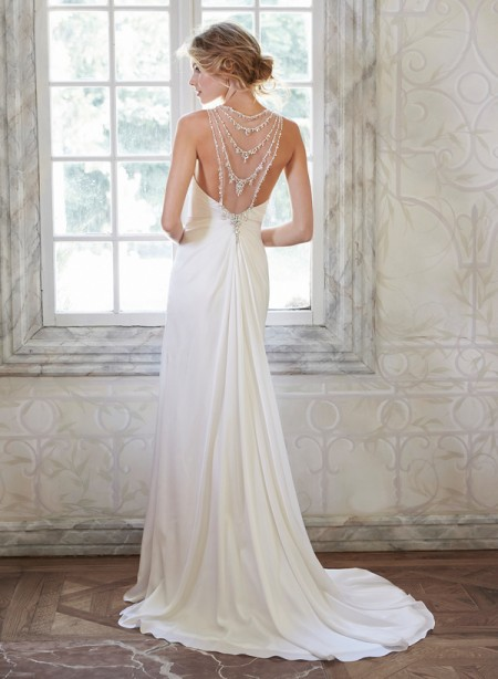 Back of Deandra Wedding Dress - Maggie Sottero Spring 2015 Bridal Collection