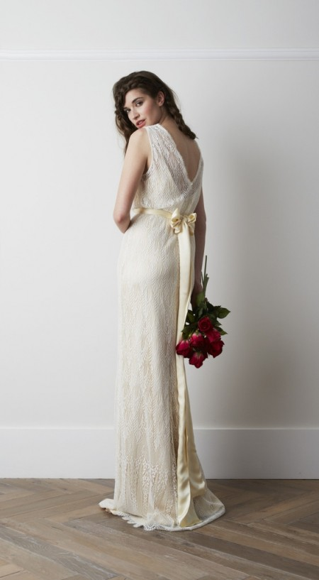Back of Deco Wedding Dress - Charlie Brear 2015 Bridal Collection