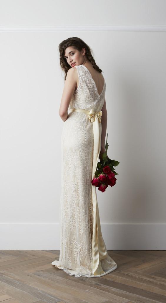 Back of Deco Wedding Dress - Charlie Brear 2015 Bridal Collection