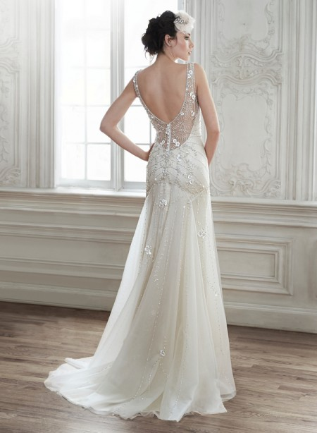 Back of Demi Wedding Dress - Maggie Sottero Spring 2015 Bridal Collection