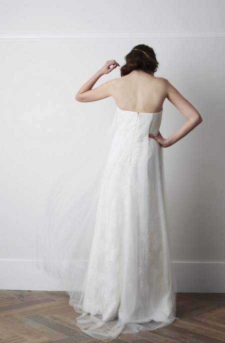 Back of Demi Voulaire Wedding Dress - Charlie Brear 2015 Bridal Collection