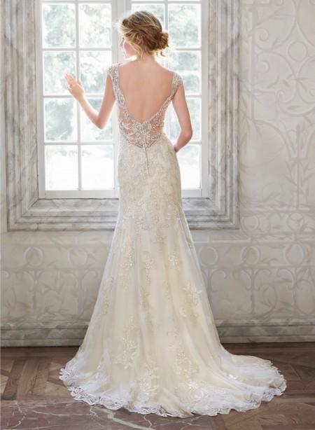 Back of Elison Wedding Dress - Maggie Sottero Spring 2015 Bridal Collection