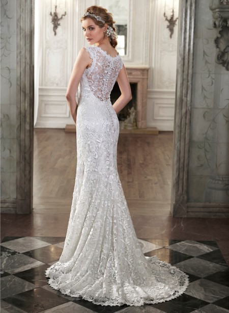 Back of Ellis Wedding Dress - Maggie Sottero Spring 2015 Bridal Collection