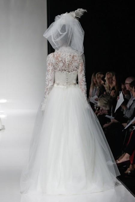Back of Emily Wedding Dress - Alan Hannah Floral Symphony 2015 Bridal Collection