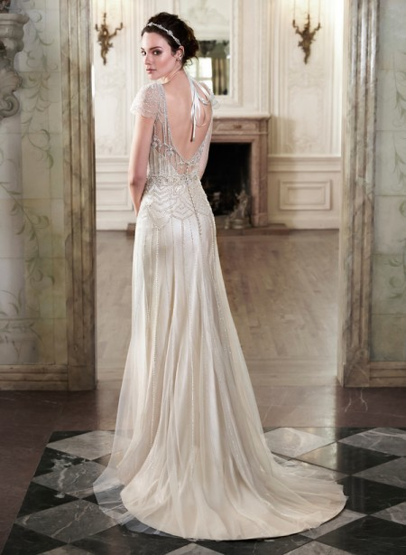 Back of Ettia Wedding Dress - Maggie Sottero Spring 2015 Bridal Collection