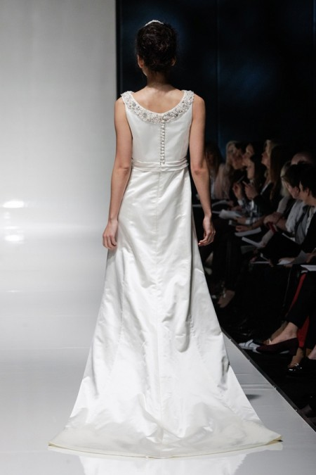 Back of Genevieve Wedding Dress - Alan Hannah Floral Symphony 2015 Bridal Collection