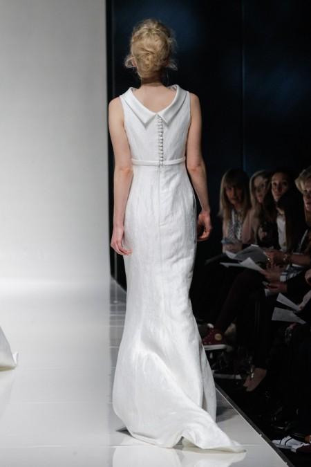 Back of Georgette Wedding Dress - Alan Hannah Floral Symphony 2015 Bridal Collection