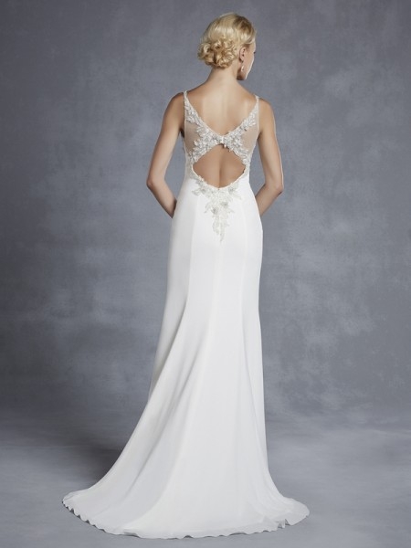Back of Hainsworth Wedding Dress - Blue by Enzoani 2015 Bridal Collection