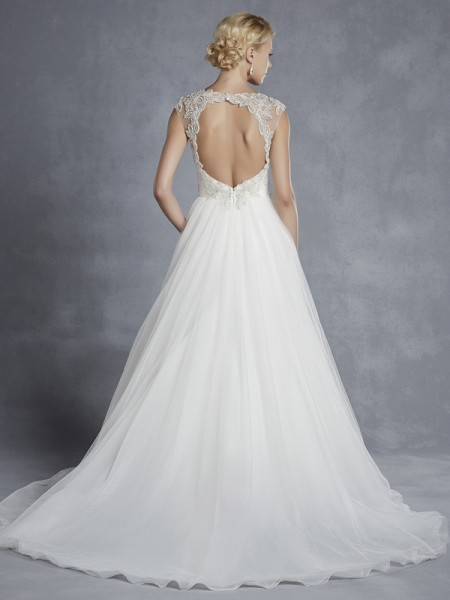 Back of Halifax Wedding Dress - Blue by Enzoani 2015 Bridal Collection